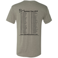 2019 Rob Lightner Summer Tour Black Logo NL6010 Next Level Men's Triblend T-Shirt