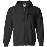 Rob Lightner Black Logo G186 Gildan Zip Up Hooded Sweatshirt