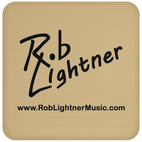 Rob Lightner Black Logo UN5677 Coaster