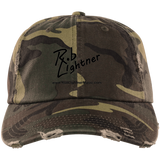 Rob Lightner Black Logo DT600 District Distressed Dad Cap