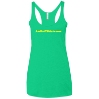 AssHatTShirts.com Yellow Logo NL6733 Next Level Ladies' Triblend Racerback Tank