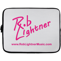 Rob Lightner Pink Logo Laptop Sleeve - 13 inch