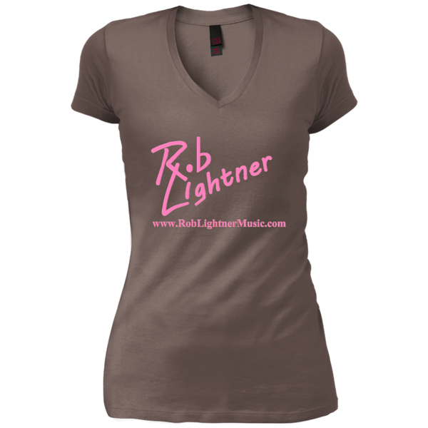 2018 Rob Lightner Summer Tour Pink Logo DT4501 District Junior's Vintage Wash V-Neck T-Shirt