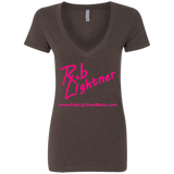 2019 Rob Lightner Summer Tour Pink Logo NL6640 Next Level Ladies' Deep V-Neck T-Shirt