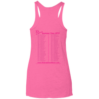 2019 Rob Lightner Summer Tour Pink Logo NL6733 Next Level Ladies' Triblend Racerback Tank
