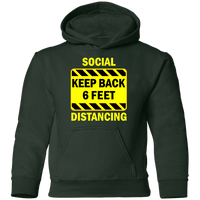 Social Distancing - G185B Youth Pullover Hoodie
