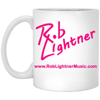 Rob Lightner PInk Logo XP8434 11 oz. White Mug