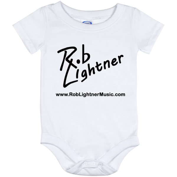 Rob Lightner Black Logo Baby Onesie 12 Month