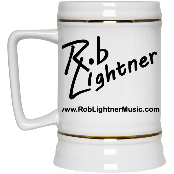 Rob Lightner Black Logo 22oz. Beer Stein