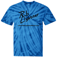 2019 Rob Lightner Summer Tour Black Logo CD100 100% Cotton Tie Dye T-Shirt