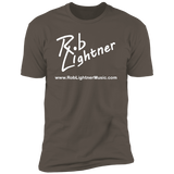 Rob Lightner White Logo NL3600 Next Level Premium Short Sleeve T-Shirt