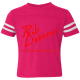 2019 Rob Lightner Summer Tour Pink Logo 3037 Rabbit Skins Toddler Football Fine Jersey T-Shirt