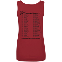 2019 Rob Lightner Summer Tour Black Logo 882L Anvil Ladies' 100% Ringspun Cotton Tank Top