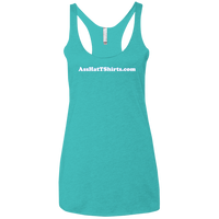 AssHatTShirts.com White Logo NL6733 Next Level Ladies' Triblend Racerback Tank