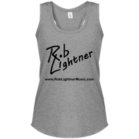 2019 Rob Lightner Summer Tour Black Logo DM138L District Women's Perfect Tri Rackerback Tank