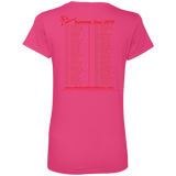2019 Rob Lightner Summer Tour Pink Logo 88VL Anvil Ladies' V-Neck T-Shirt