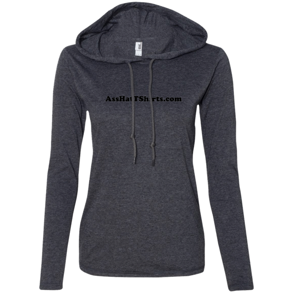 AssHatTShirts.com Black Logo 887L Anvil Ladies' LS T-Shirt Hoodie