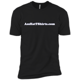 AssHatTShirts.com White Logo - NL3600 Next Level Premium Short Sleeve T-Shirt