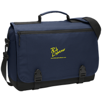 Rob Lightner Yellow Logo BG304 Port Authority Messenger Briefcase