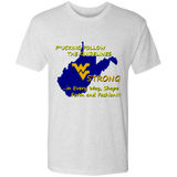 F*CKING FOLLOW the GUIDELINES WV Strong - NL6010 Men's Triblend T-Shirt