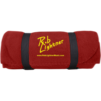 Rob Lightner Yellow Logo BP10 Port & Co. Fleece Blanket