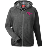 Rob Lightner Pink Logo TT38 Team 365 Men's Heathered Performance Hooded Jacket