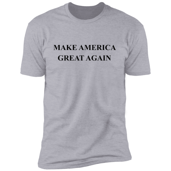 Make America Great Again - Black Logo NL3600 Next Level Premium Short Sleeve T-Shirt
