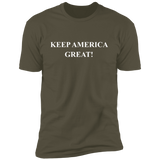 KEEP AMERICA GREAT NL3600 Next Level Premium Short Sleeve T-Shirt