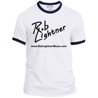 2018 Rob Lightner Summer Tour Black Logo PC54R Port & Co. Ringer Tee