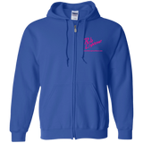 Rob Lightner Pink Logo G186 Gildan Zip Up Hooded Sweatshirt