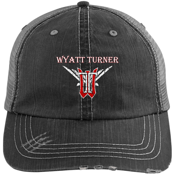 Wyatt Turner 6990 Distressed Unstructured Trucker Cap