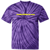 AssHatTShirts.com Kid's Yellow Logo Tie Dye - CD100Y Youth Tie Dye T-Shirt