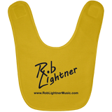 Rob Lightner Black Logo Baby Bib