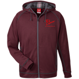 Rob Lightner Red Logo TT38 Team 365 Men's Heathered Performance Hooded Jacket