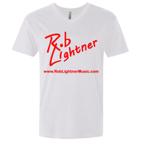 2019 Rob Lightner Summer Tour Red Logo NL3200 Next Level Men's Premium Fitted SS V-Neck