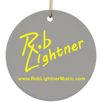 Rob Lightner Yellow Logo Ceramic Holiday Ornament