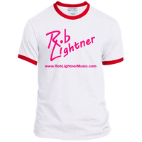 2019 Rob Lightner Summer Tour Pink Logo PC54R Port & Co. Ringer Tee