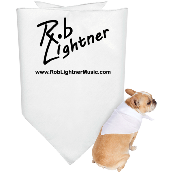 2019 Rob Lightner Summer Tour Black Logo 3905 Doggie Bandana