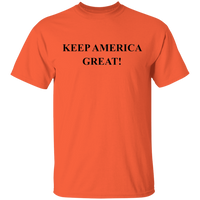 KEEP AMERICA GREAT Black Print G500 Gildan 5.3 oz. T-Shirt