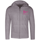 Rob Lightner Pink Logo DT1100 District Lightweight Full Zip Hoodie