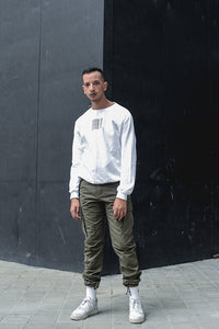 WHITE MIGRATION CREWNECK
