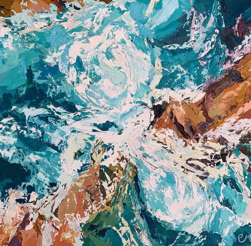 Rising Tides - Palette Knife Textured Painting