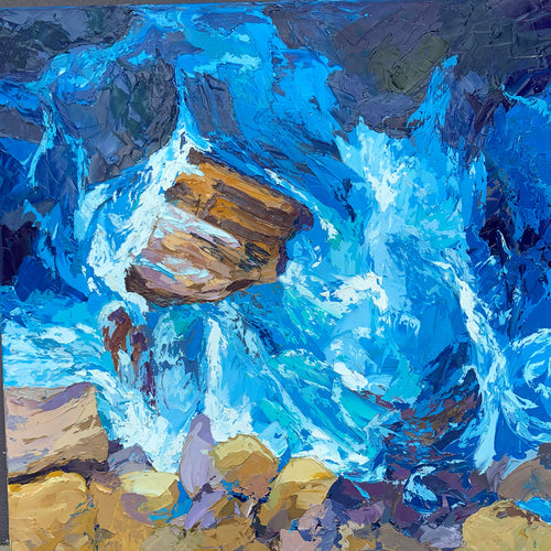 Making Waves - Palette Knife Textured Painting
