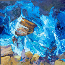 Fine Art Print of Making Waves - Palette Knife Textured Painting