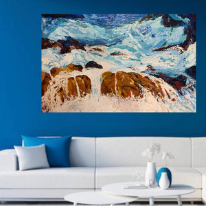 Fine Art Print of Untamed- Palette Knife Textured Painting