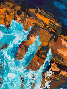 The Depths - Palette Knife Textured Painting
