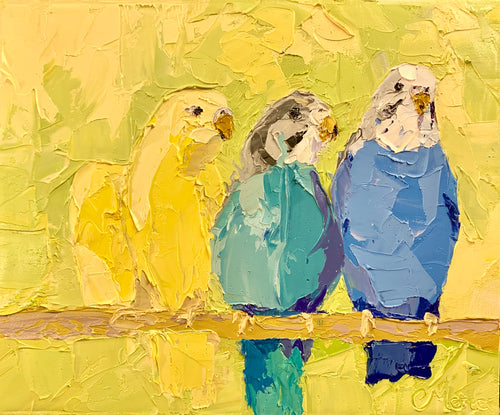 Cheeky Trio- Palette Knife Textured Painting