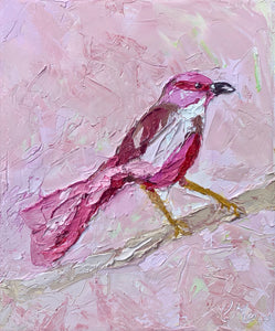 Pink Bandit- Palette Knife Textured Painting