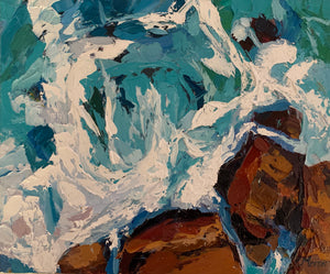 Fine Art Print of Above The Waves - Palette Knife Textured Painting