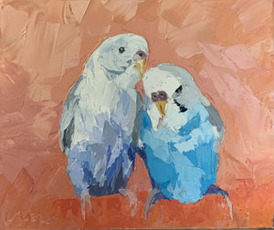 Snuggeling up - Palette Knife Textured Painting